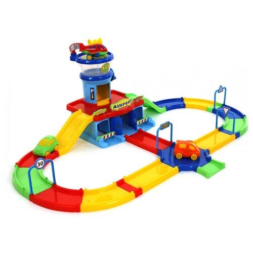 Купить Wader Play City: Аэропорт 40404 красный/желтый/зеленый/синий, Детские парковки и гаражи