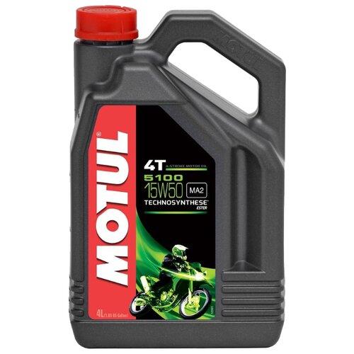 Моторное масло Motul 5100 4T 15W50 4 л motul outboard tech 4t 10w30 2л