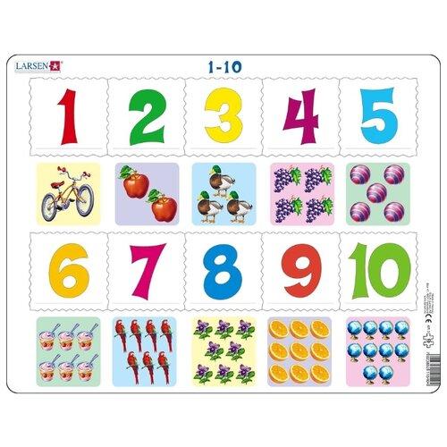 Купить Рамка-вкладыш Larsen Математика Счет до 10 (AR3), 10 дет., Пазлы