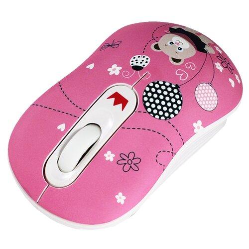 Беспроводная мышь CROWN MICRO CMM-928W Bear Pink USB мышь беспроводная crown cmm 928w bear usb