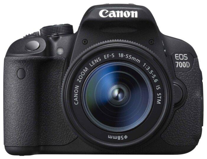 Зеркальная фотокамера Canon EOS 700D Kit 18-55 IS STM 18.5Mp черный