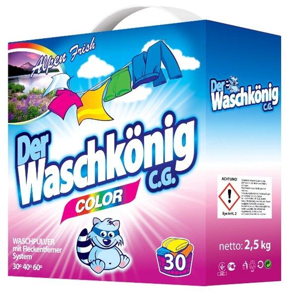 Стиральный порошок Waschkonig Color 2.5 кг картонная пачка