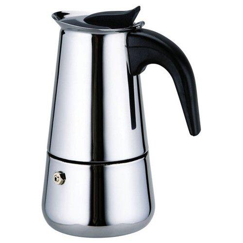 Гейзерная кофеварка Kamille 0660 (200 мл), серебристый