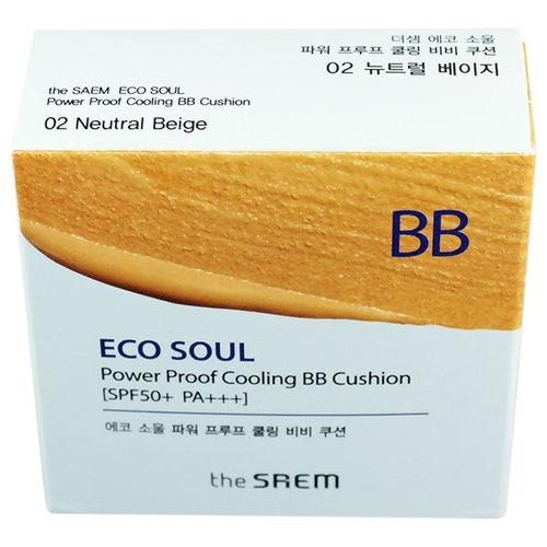 Eco Soul BB кушон Power Proof Cooling 13 гр The Saem