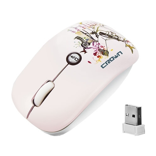 Мышь CROWN CMM-907W Pink USB