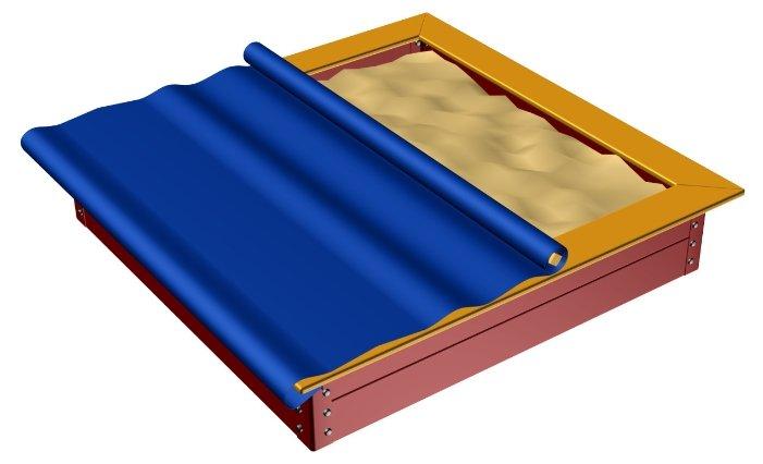 Песочница ROMANA 2000*2000 с тентом