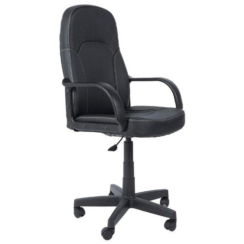 Компьютерное кресло TetChair Парма офисное, обивка: искусственная кожа, цвет: черный компьютерное кресло tetchair jazz офисное обивка искусственная кожа цвет бежевый коричневый 4230