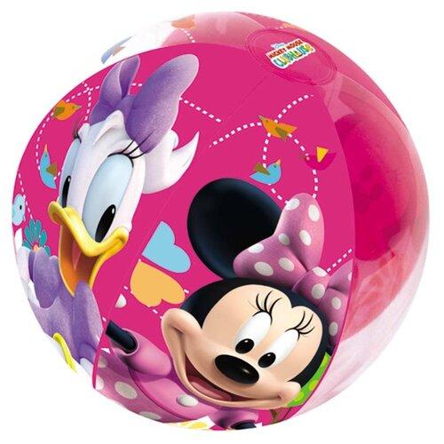 Мяч пляжный надувной Bestway Минни и Дэйзи 91022 BW розовый
