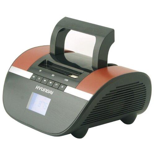 Магнитола Hyundai H-PAS220/H-PAS240 черный/коричневый