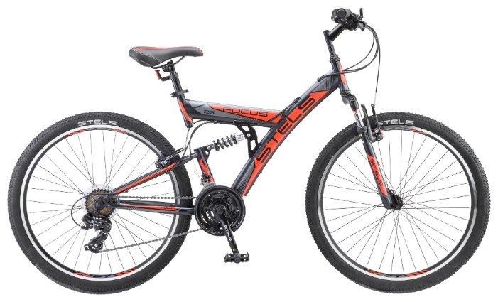 Велосипед Stels Focus V 26 18-sp V030 (2018), белый/красный