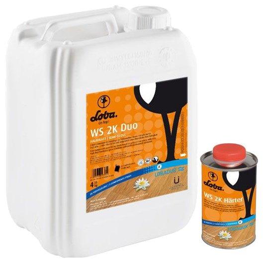 Лак Loba WS 2K Duo полуматовый (5 кг)