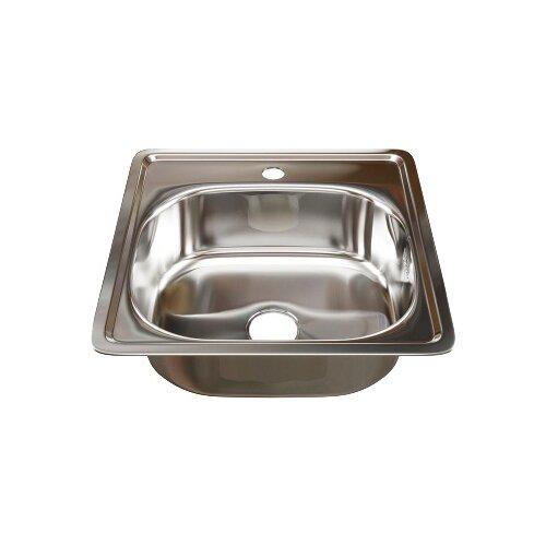 Врезная кухонная мойка 48 см Mixline 48х48 (0,6) 3 1/2 нержавеющая сталь/глянец врезная кухонная мойка 51 см mixline d51 0 6 3 1 2 нержавеющая сталь глянец