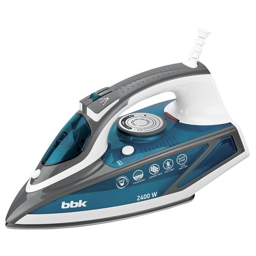 Утюг BBK ISE-2402 голубой/серый/белый