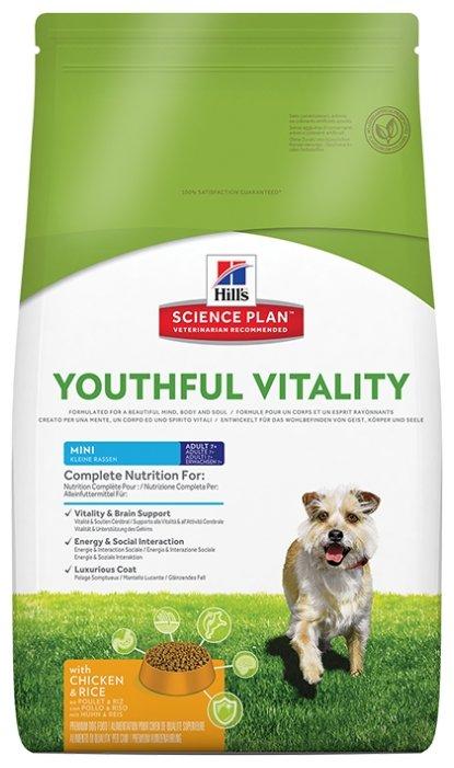 Корм для собак Hill's Science Plan Canine Adult 7+ Youthful Vitality Mini with Chicken & Rice