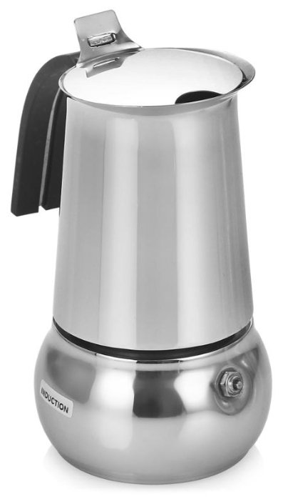 Гейзерная кофеварка Bialetti Kitty Nera (на 10 чашек по 50 мл), металлик