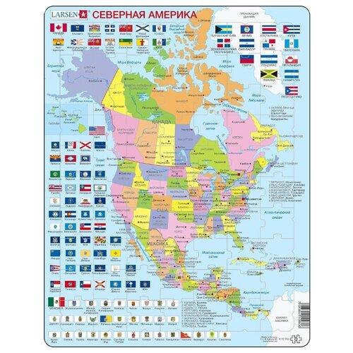 Купить Пазл Larsen Северная Америка (K17), 70 дет., Пазлы