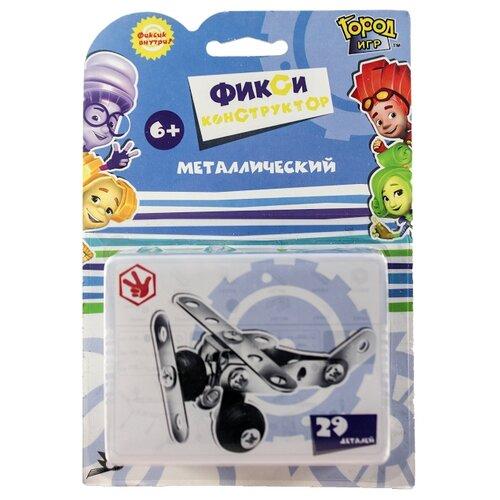 Винтовой конструктор Город Игр Фикси металлический 6395 Самолет XSКонструкторы<br>