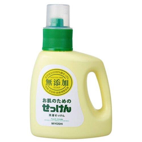 Жидкость для стирки Miyoshi для изделий из хлопка 1.2 л бутылкаГели и жидкости для стирки<br>