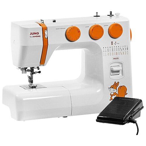 Швейная машина Janome Juno 5025 S, бело-оранжевый