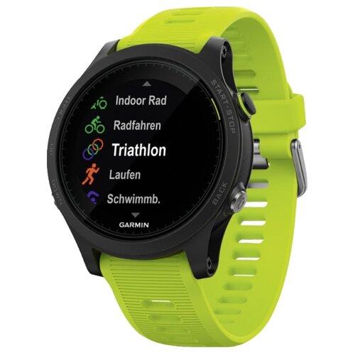 Часы Garmin Forerunner 935 HRM-Tri зеленый garmin forerunner 735xt hrm run blue