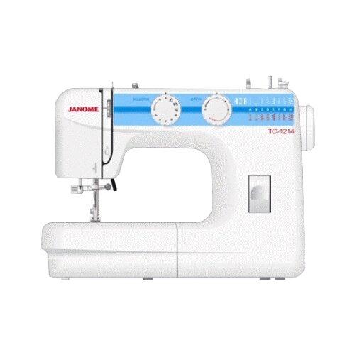 Швейная машина Janome TC 1214 белый/голубой