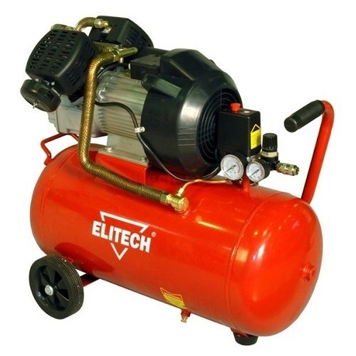 Компрессор масляный ELITECH КПМ 360/50, 50 л, 2.2 кВт компрессор масляный elitech кпм 360 25 25 л 2 2 квт