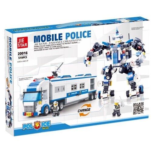 Купить Конструктор Jie Star Police 20016 Мобильная станция, Конструкторы