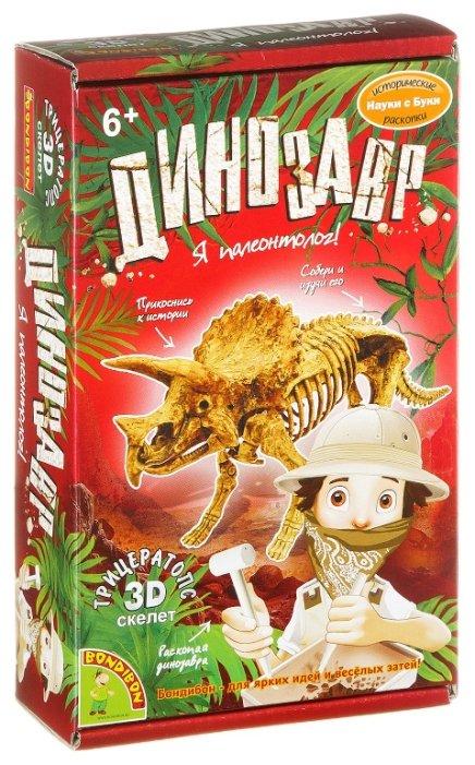 Набор для раскопок BONDIBON Динозавр. Трицератопс (ВВ1995)