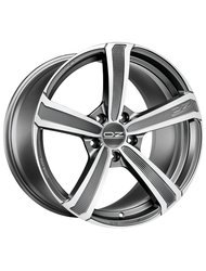 Диски O.Z Racing Montecarlo HLT 9,5x20 5x120 D79 ET40 цвет Matt Dark Graphite Diamond Cut - фото 1