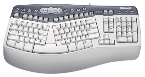 Клавиатура Microsoft Natural MultiMedia Keyboard Grey PS/2