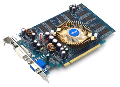 Видеокарта ASUS GeForce 6200 300Mhz PCI-E 128Mb 550Mhz 128 bit DVI TV
