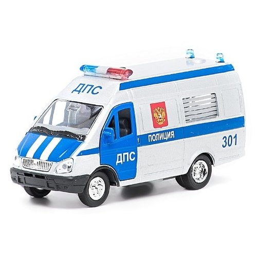 цена на Микроавтобус ТЕХНОПАРК ГАЗель ДПС (CT-1276-15) 1:43 белый/синий