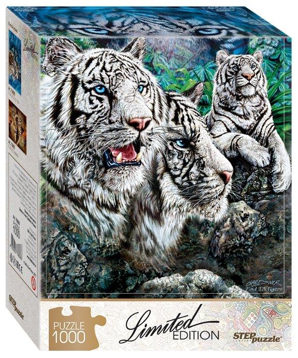 Пазл Step puzzle Limited Edition Найди 13 тигров (79808) , элементов: 1000 шт.