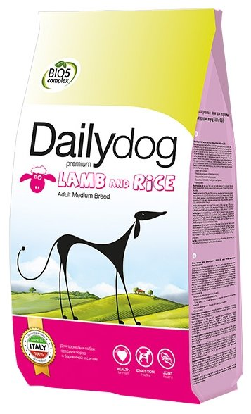 Корм для собак Dailydog Adult Medium Breed lamb and rice