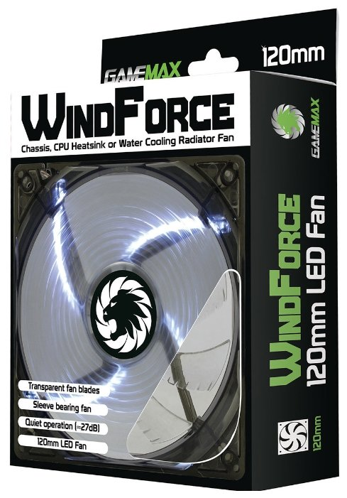 Вентилятор для корпуса GameMax WindForce 4 x White LED — купить по выгодной цене на Яндекс.Маркете