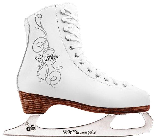 Женские коньки СК (Спортивная коллекция) Le Fleur 100% Leather (взрослые)