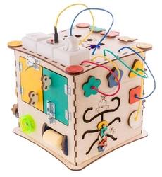 Бизиборд IWOODPLAY Бизикуб с электрикой