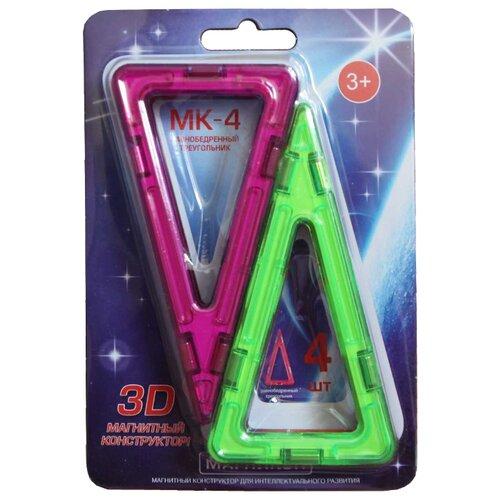 Купить Магнитный конструктор Магникон Набор элементов МК-4-РТ Равнобедренный треугольник, Конструкторы