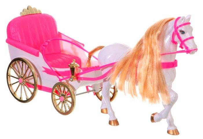 Набор игрушка BOX 47см Карета с лошадью для куклы