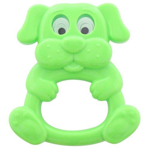 Купить Погремушка Полесье Песик зеленый, Погремушки и прорезыватели