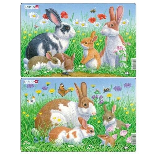 цена на Набор рамок-вкладышей Larsen Кролики (CU3)