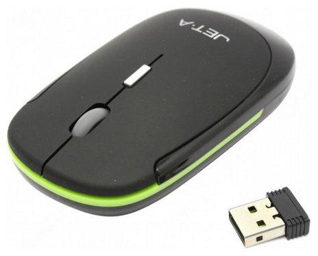 Мышь Jet.A OM-U7G Black-Green USB