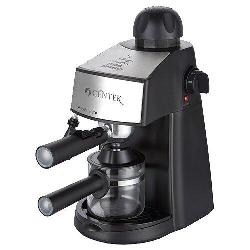 Кофеварка рожковая CENTEK CT-1160 черный/серебристыйКофеварки и кофемашины<br>