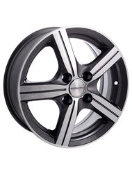 TG Racing LZ 369 5x0 4x98 ET 38 Dia 58,5 (black polished) - фото 1