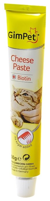 Витамины GimPet Cheese Paste + Biotin,