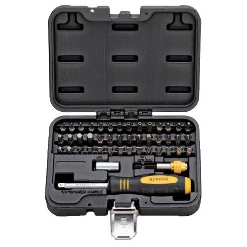 Отвёртка со сменными битами BERGER (45 шт.) BG-45SBНаборы инструментов и оснастки<br>