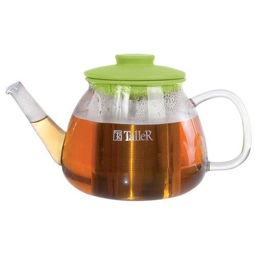 Taller Заварочный чайник Уинфред TR-1361 800 мл, прозрачный/зеленый 1360 tr чайник заварочный taller 600 мл