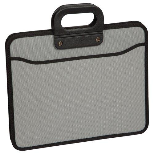 Купить OfficeSpace Папка-портфель 3 отделения А4+, на молнии, пластик серый, Файлы и папки