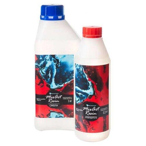Купить Эпоксидная смола EpoximaxX для рисования MixArt Resin 1500 г белый/красный, Лак и клей