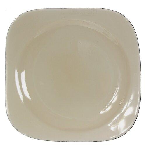 Pasabahce Тарелка десертная Броунз 18.5х18.5 см коричневый тарелка pasabahce бохо цвет зеленый диаметр 26 см
